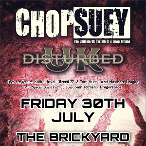 Chop Suey / Disturbed UK