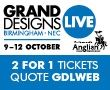 Grand Designs Live 241 offer ends 31 August