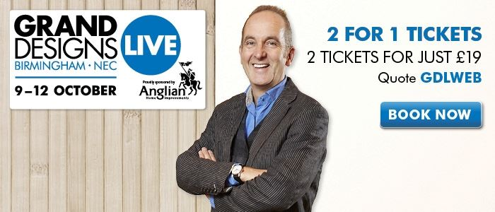 Grand Designs Live offer ends 31 August