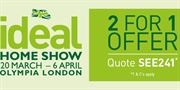 Ideal Home Show Early Bird offer ends 31 January