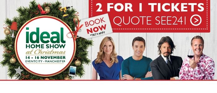 NEW Ideal Home Show at Christmas in Manchester!