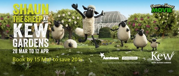 Shaun the Sheep at Kew Gardens