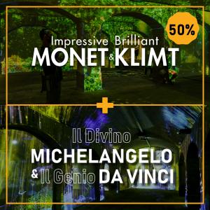 Monet & Klimt + Da Vinci & Il Divino Michelangelo
