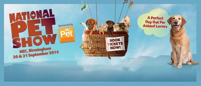 30% off National Pet Show tickets here!