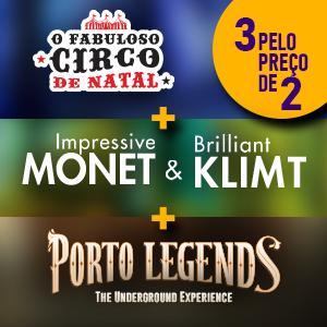 Pack Porto Legends + Monet & Klimt + Circo