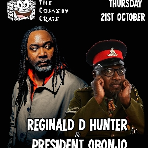 Reginald D Hunter & President Obonjo