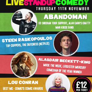 The Comedy Crate with Abandoman
