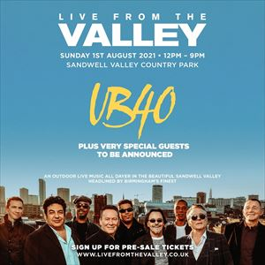 UB40: Live From The Valley Tickets and Dates