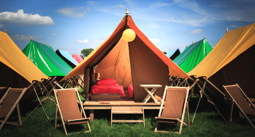 Canvas Ridge Tent & Virgin V Festival Luxury Camping