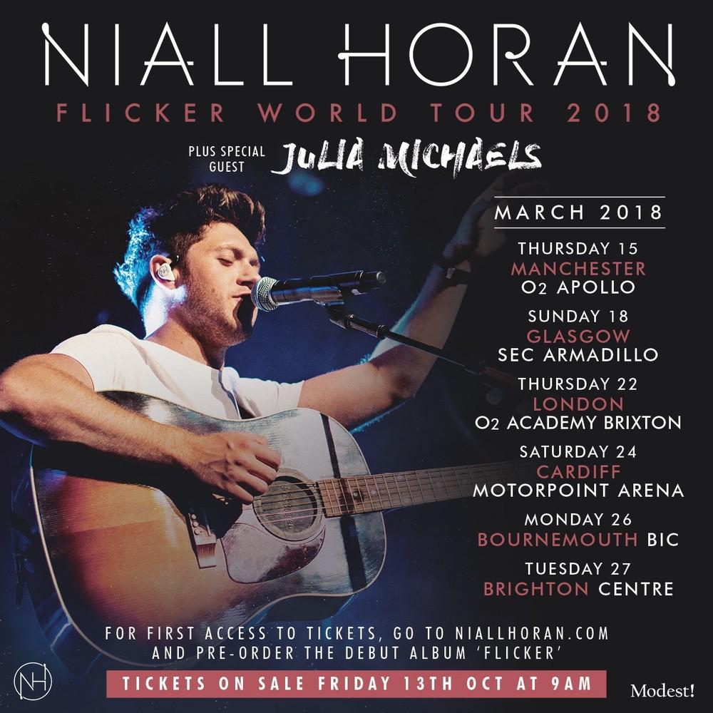 Niall Horan Tour Schedule