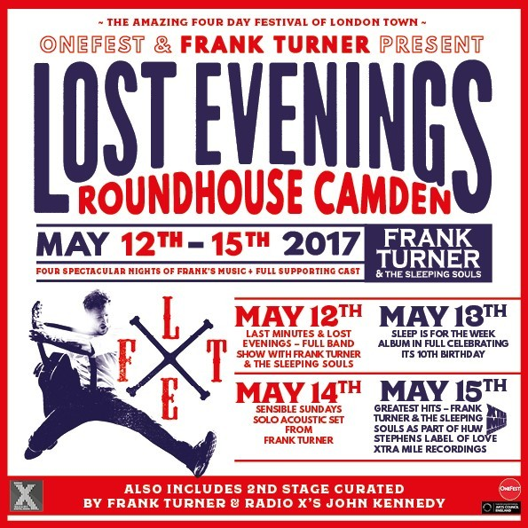 ONEFEST & FRANK TURNER PRESENT 'LOST EVENINGS'
