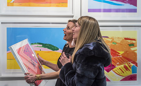 Visitors enjoying art at Battersea Spring fair